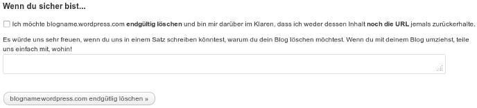 Blog löschen