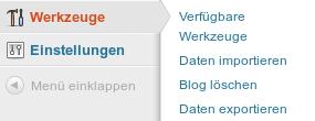Inhalt in WordPress.com importieren